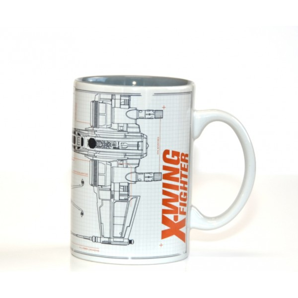 Disneyland Paris Star Wars X-Wing Fighter Sketch Mug