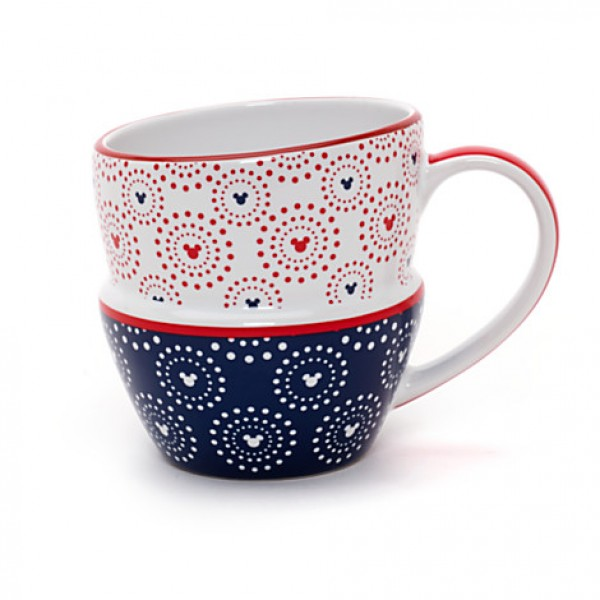 Mickey Mouse Icon Indigo Stacked Mug