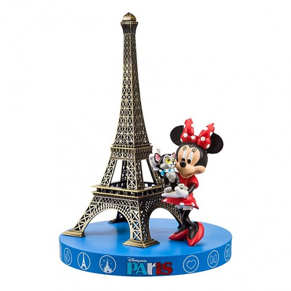 Minnie Mouse and Eiffel Tower Souvenir Figurine, Disneyland Paris