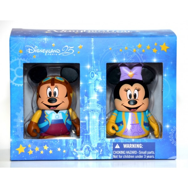 Disneyland Paris 25th Anniversary Mickey and Minnie Vinylmation Set
