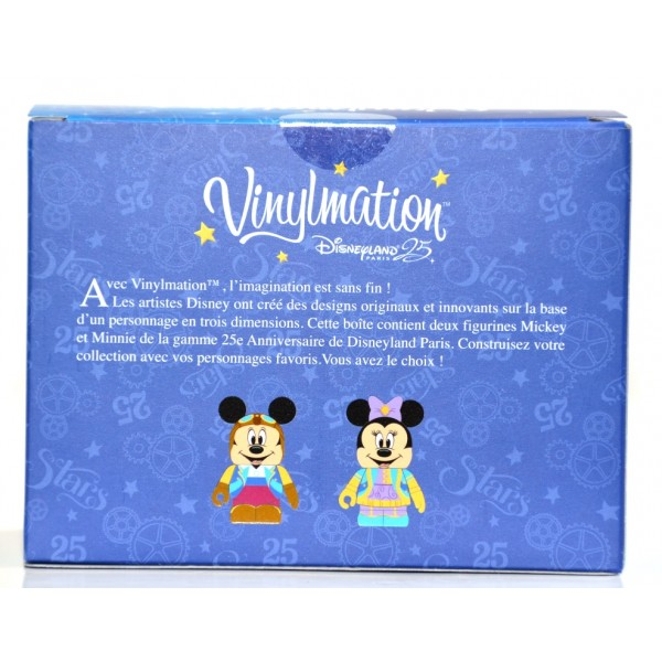 Disneyland Paris 25th Anniversary Mickey and Minnie Vinylmation Set