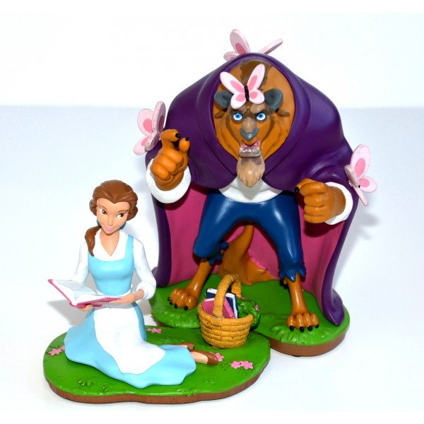 Disney Beauty and the Beast Set of two Figurines, Disneyland Paris Original