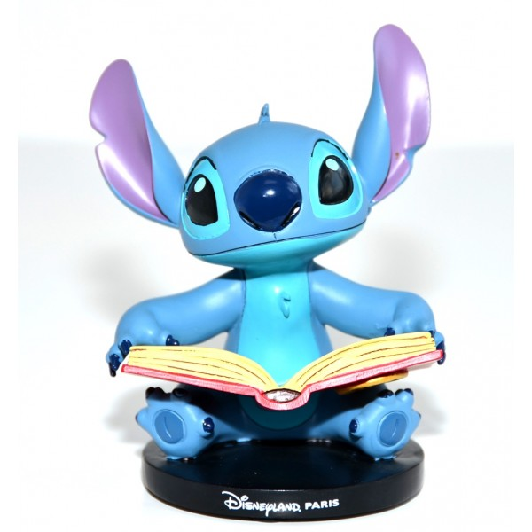 Disney Stitch reading Figurine, Disneyland Paris