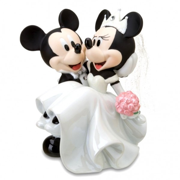 Disney Mickey and Minnie Ceramic Wedding Figurine