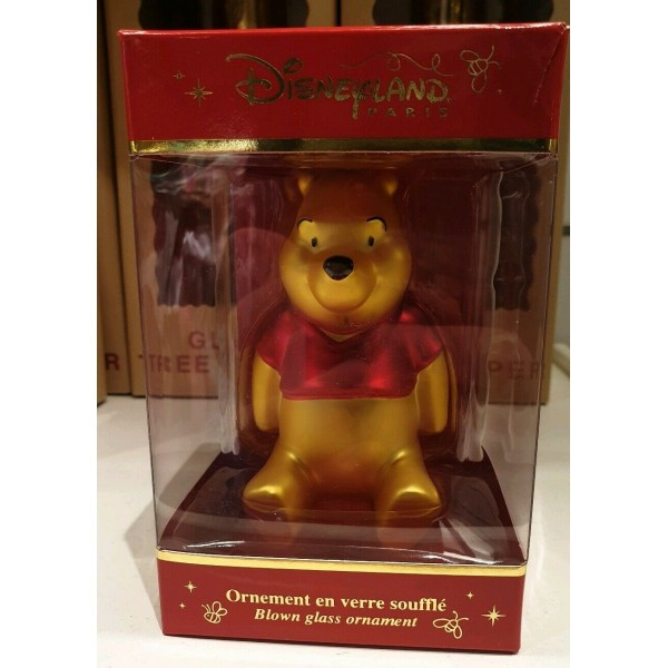 Winnie The Pooh Christmas Blown Glass Ornament