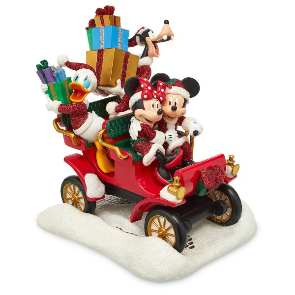 Disney Santa Mickey Mouse and Friends in Car Figure