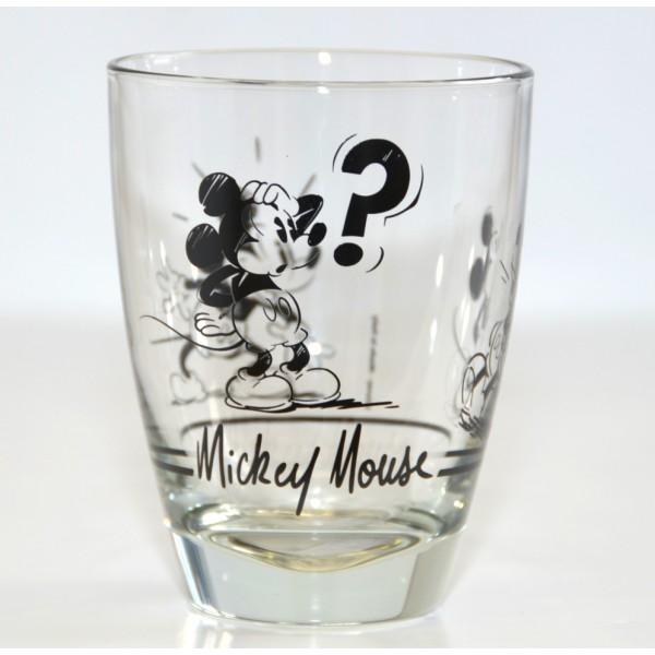 Disneyland Paris Mickey Mouse Comic Strip BW Small Glass