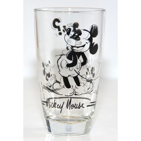 Disneyland Paris Mickey Mouse Comic Strip BW Tall Glass