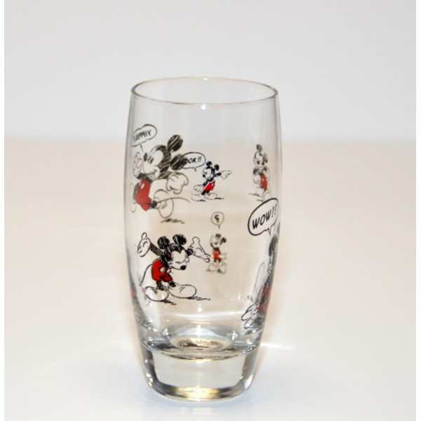 Mickey Mouse Comic Strip Tall Glass