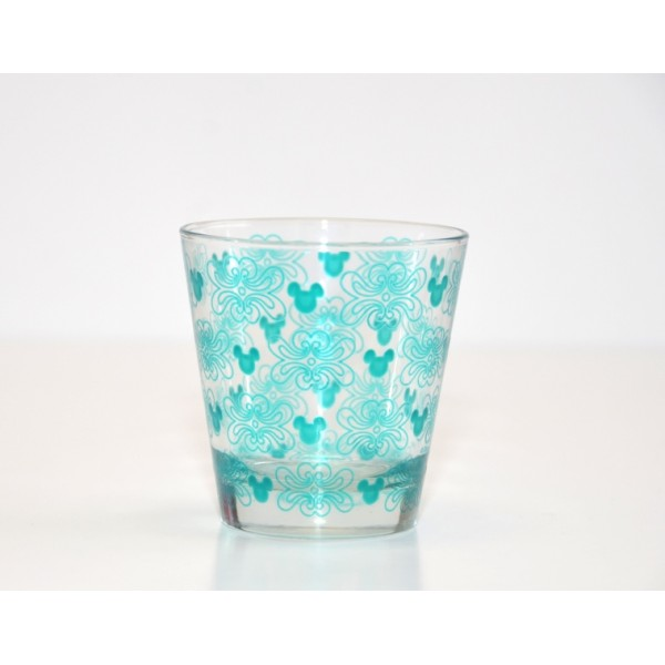 Mickey Mouse Icon Indigo Drinking Glass