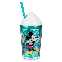 Mickey and Minnie Mouse Ice Cream Dome Tumbler with Straw