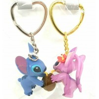 Stitch and Angel magnetic Keychains Keyring, Disneyland Paris Original