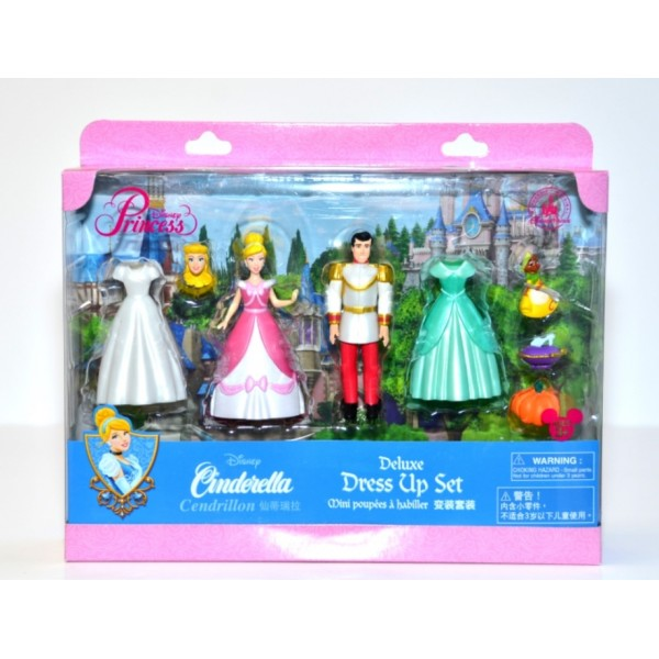 Princess Cinderella and Prince Deluxe Fashion Play set