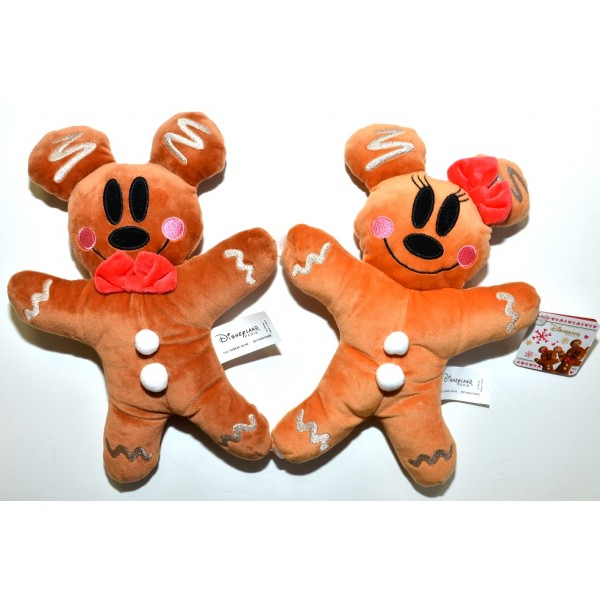 Disneyland Paris Exclusive Mickey and Minnie Gingerbread Plush soft toy