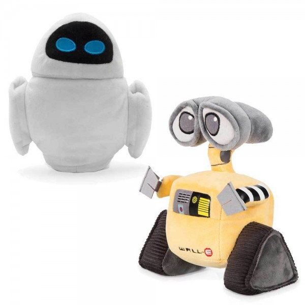 Disneyland Paris Wall-E and Eve small Plush Soft Toy set