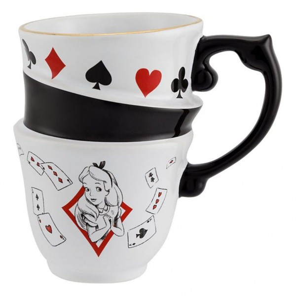 Disney Alice in Wonderland Stacked Mug - New collection Disneyland Paris