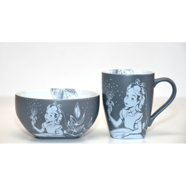 Disney Alice in Wonderland Mug and Bowl Breakfast Set