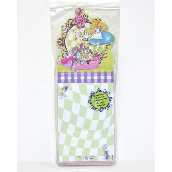 Disney Alice in Wonderland Magnetic Shopping list