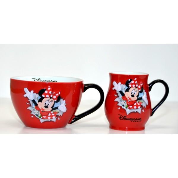 Disney Minnie Mouse Burst Mug and Bowl with handle Set