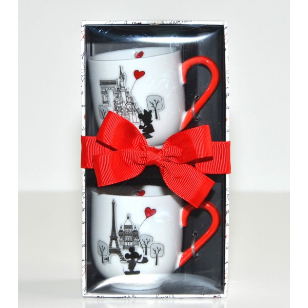 Disneyland Paris Mickey and Minnie Amour Espresso Cups, Set of 2