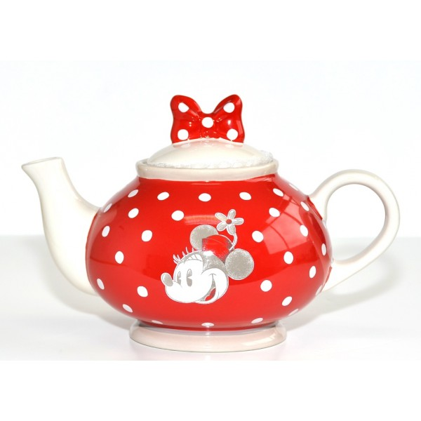 Minnie Mouse red Teapot, Disneyland Paris
