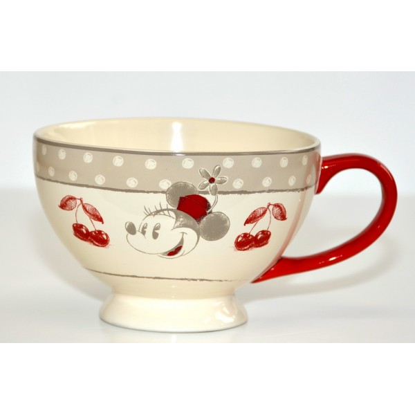 Disney Minnie Mouse red bowl with handle, Disneyland Paris