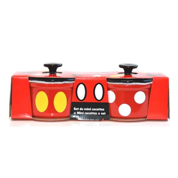 Disney Mickey Mouse set of 2 Mini Cocotte