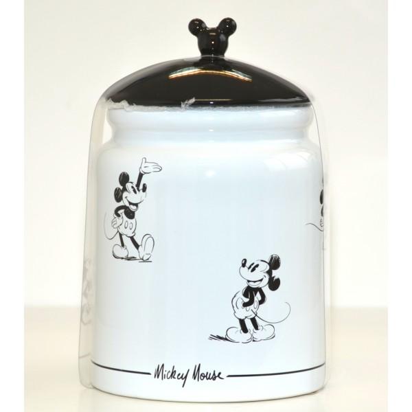 Mickey Mouse Comic Black and White Cookie Strip jar, Disneyland Paris