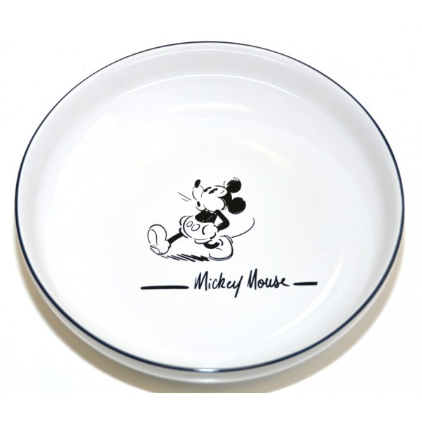 Mickey Mouse Comic Black and White pasta plate, Disneyland Paris