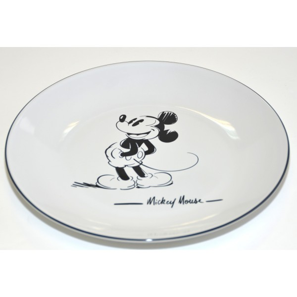 Mickey Mouse Comic Black and White plate, Disneyland Paris