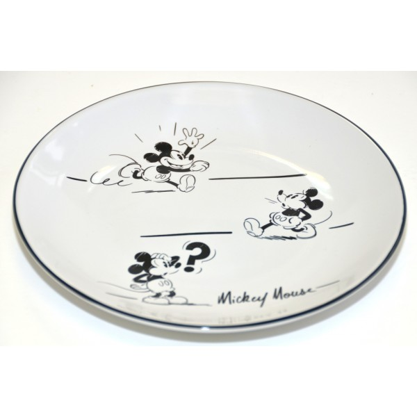 Mickey Mouse Comic Black and White side plate, Disneyland Paris