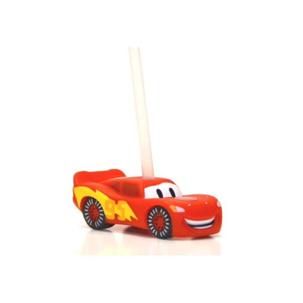 Disney Bottle Cap Straw - Lightning McQueen