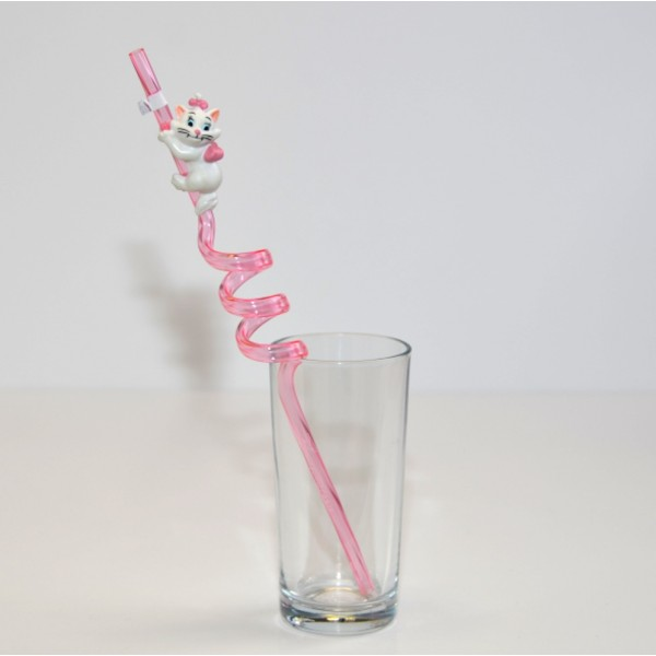 Disney Marie Cat Curly Straw