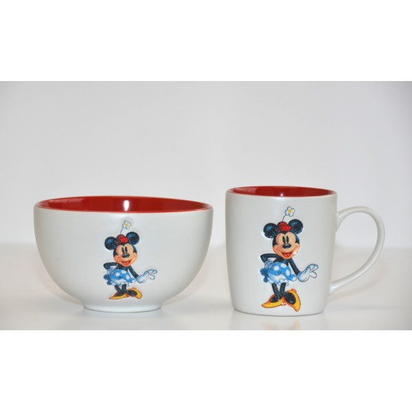 Disney Minnie Mouse Mug and Bowl Set