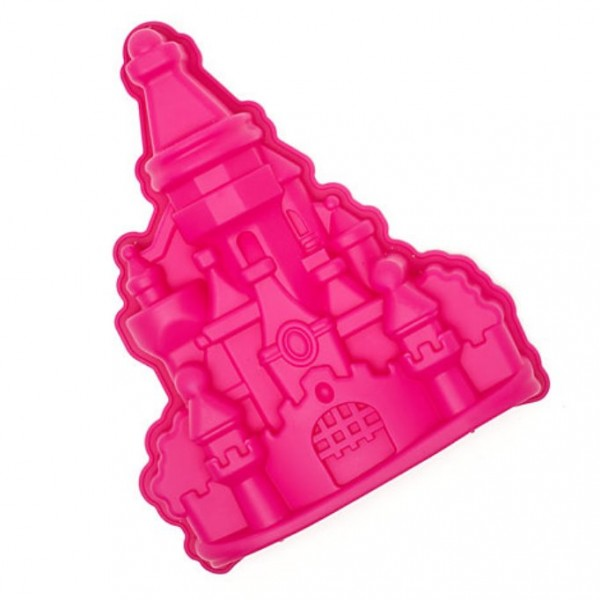 Disneyland Paris Disney Princess Castle Silicone Cake Mould in Pink