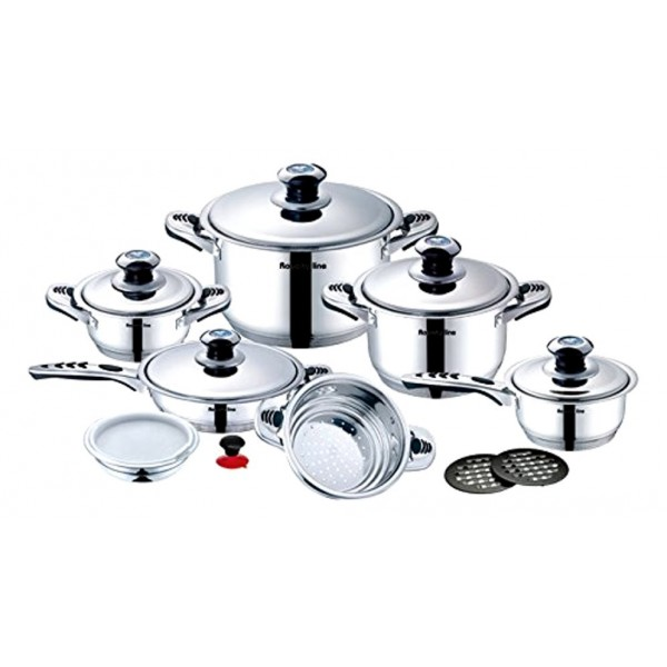 Premium Stainless Steel Cookware Set 16pc (Switzerland)