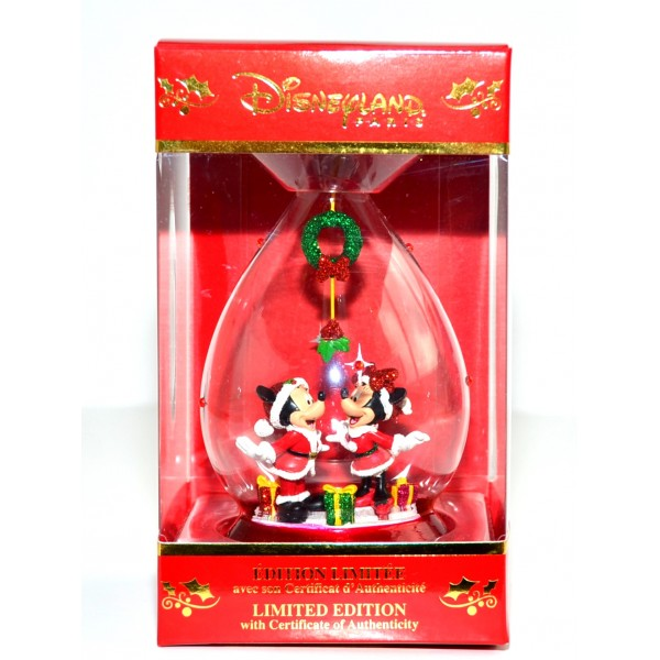 Disney Mickey and Minnie Mouse Limited Edition Christmas Bauble, Disneyland Paris
