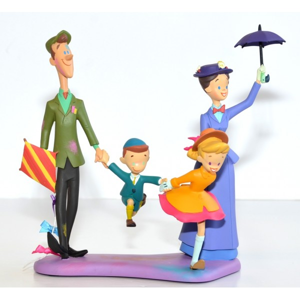 Mary Poppins, Bert with Jane and Michael Banks Figure Limited Edition, Disneyland Paris