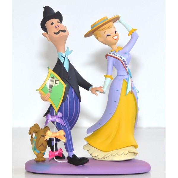 George, Winifred Banks with Andrew the Dog from Mary Poppins Figure Limited Edition