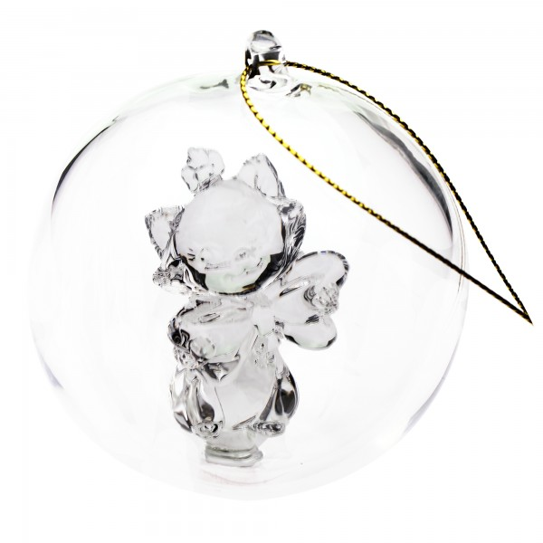 Marie Cat Christmas bauble, Arribas Glass Collection