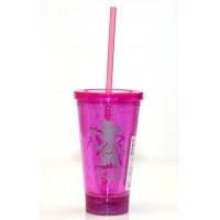 Disneyland Paris 25 Anniversary Minnie light up Cup with Straw