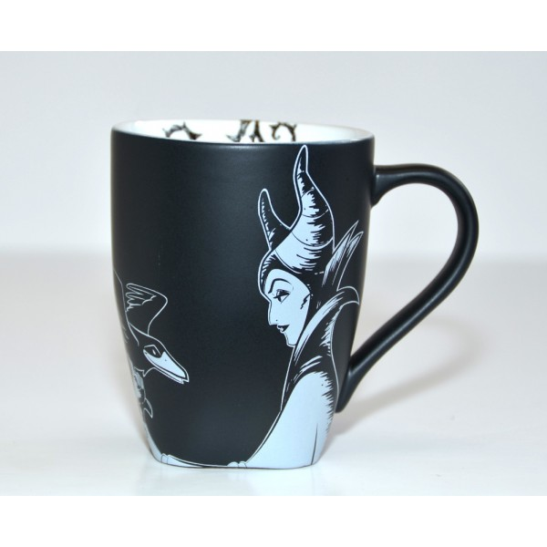 Maleficent Black and White Mug