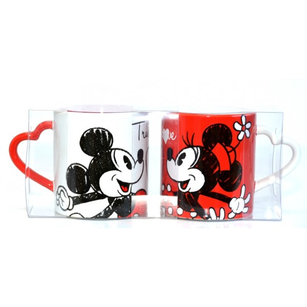 Disney Mickey and Minnie True Love mug set