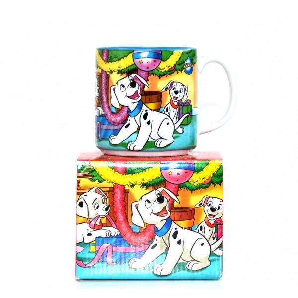 Walt Disney Classics 101 Dalmatians Christmas 2001 mug