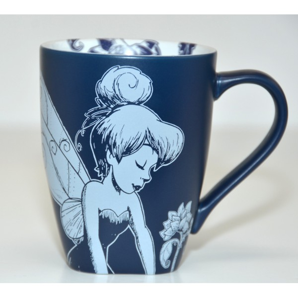 Tinker Bell Blue and White Mug