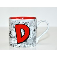 Mickey Mouse Comic-Style Print Mug with Letter D