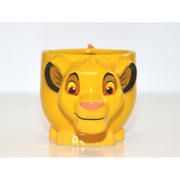 Disney Simba from The Lion king large Figural 3D mug, Disneyland Paris