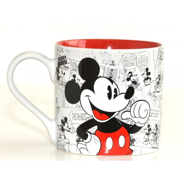 Mickey Mouse Comic-Style Print Mug with Letter M