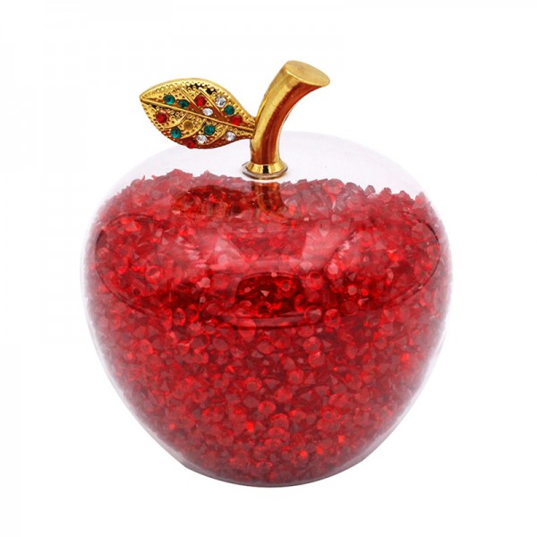 Glass Apple with Red Crystals, Arribas Glass Collection