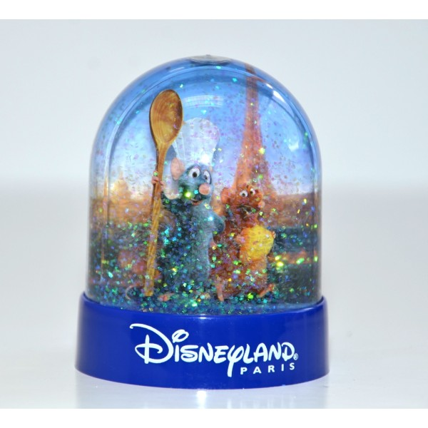 Disneyland Paris Ratatouille Plastic Snow Globe